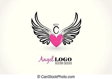 Angel love heart