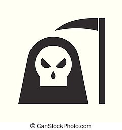 angel of death and scythe, Halloween related icon