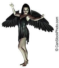 Angel of Death - arms raised