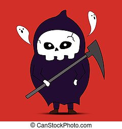 Angel of death cartoon vector