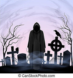 Angel of death in the cemetery - Faceless angel of death...