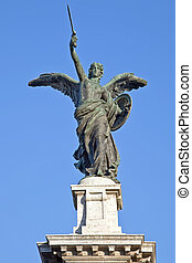 Angel on a background sky - Sculptures on the bridge of ...