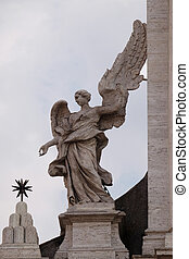 Angel on the portal of Sant Andrea della Valle Church in ...