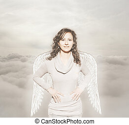 angel over the clouds