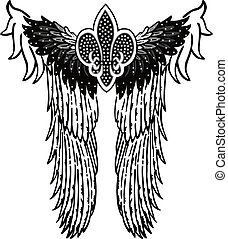 angel royal symbol patch