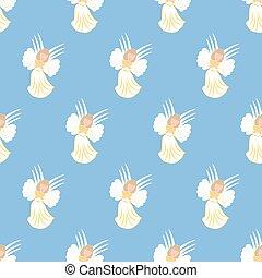 Angel seamless pattern