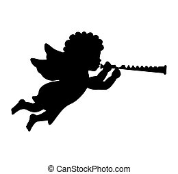 angel silhouette character icon