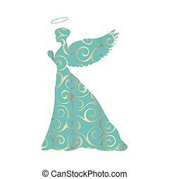 Angel silhouette christmas religious christian