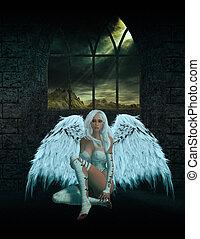 Angel Sitting Down