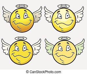 Angel Smiley Vector Set