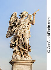 Angel Statue in the city of Rome
