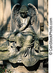 Angel statue on Cemetery in Europe