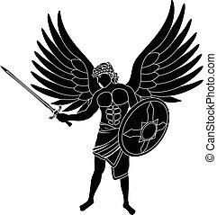 angel. stencil. first variant