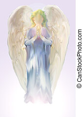 angel - Abstract Illustration of Angel on lilac background