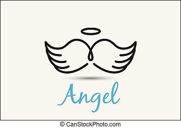 Angel symbol logo