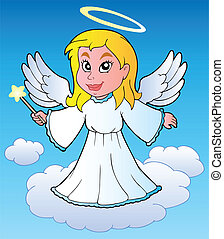 Angel theme image 1 - vector illustration.