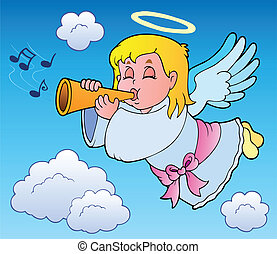 Angel theme image 3 - vector illustration.