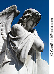 angel tombstone statue