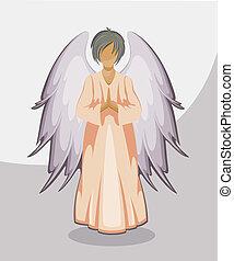 ANGEL - Vector Angel. EPS 8, AI, JPEG