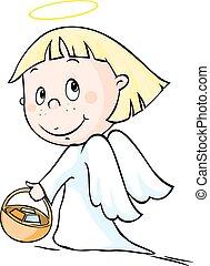Angel - vector illustration isolate