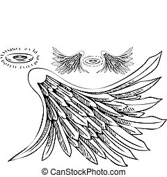 Angel Wing Halo Set