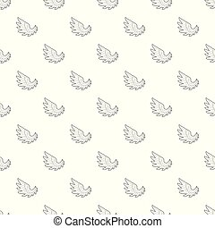 Angel wing pattern vector seamless