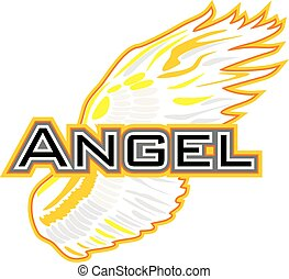 Angel wing. Sign for design