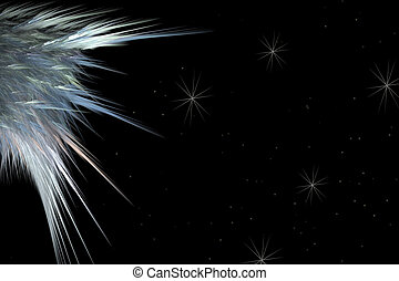 Angel Wing - A Heavenly scene of an angel wing against a...