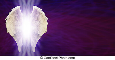 Angel Wings Banner - Angel Wings and light on Purple Matrix...