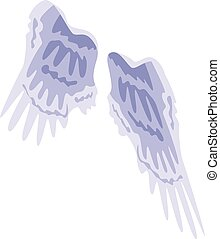 Angel wings icon, isometric style