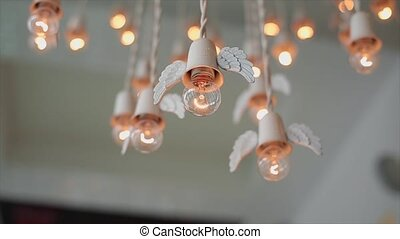 Angel wings lanterns