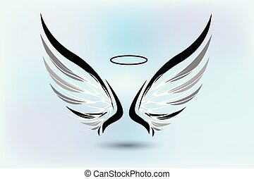 Angel wings logo vector
