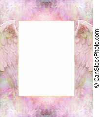 Angel Wings Message Board - Delicate intricate dusty pink...