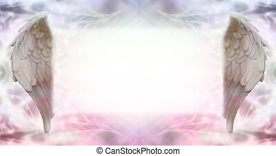 Angel Wings Message Board - Wide ethereal energy background...