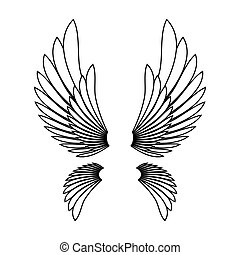 Angel wings template logo design element