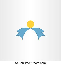 angel wings vector icon logo element
