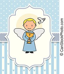 Angel with a chalice in the hands