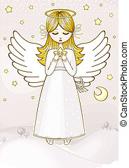 Angel with a star
