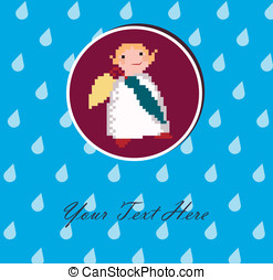 Angel with an umbrella for your design