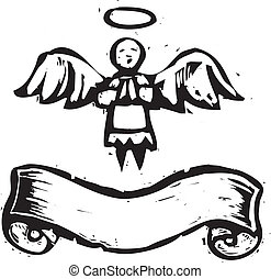 Angel With Banner