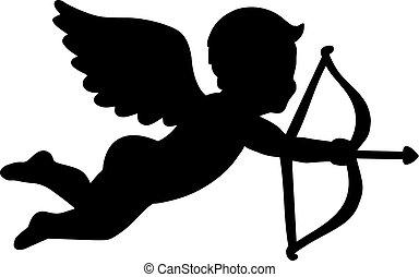 Angel with bow and arrow - amor