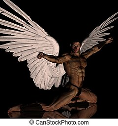 flapping wings - angel with flapping wings