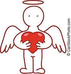 angel with heart