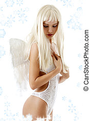 angel with snowflakes #2