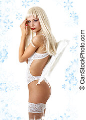 angel with snowflakes #3