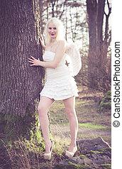 Angel woman on a tree II