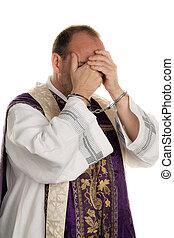 angelegten handschellen, mißbrauch, church., pfarrer