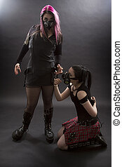 Sexueller Sklave von Paar gehalten