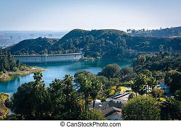 angeles, 水库, los, 好莱坞, california., 察看