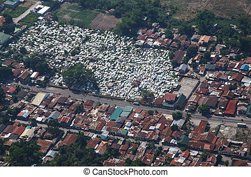 Angeles city from the air, Luzon,Philippines